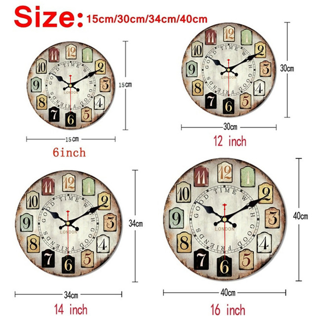WONZOM Old Time Design Classic Reloj Wall Clock Fashion Silent Living Room Wall Decor Saat Home Decoration Watch Wall Gift