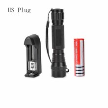 Classic Black Durable Aluminum Flashlight 18650 Light Hunting Outdoor Lighting Tactical Switch T6 Transmit