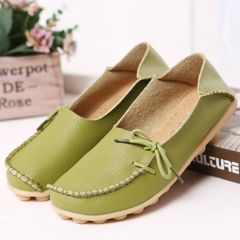 New Hot 20 Colors Natural Leather Women Flats Casual Moccasins Driving Loafers Women s Shoes Fashion