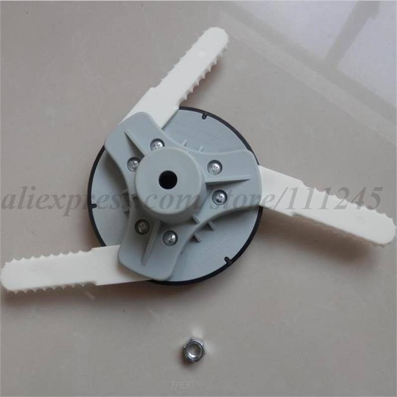 UNIVERSAL NYLON TRIMMER HEAD W/ 3 PLASTICS BLADES FOR MOST STRIMMER BRUSHCUTTER PARTS FREE SHPPING 4 pre cut lines aluminum grass trimmer head for all most trimmers free postage cheap strimmer brushcutter head