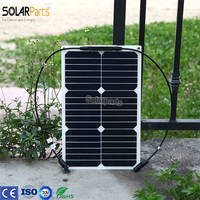 Boguang 18V 18W flexible solar panel Positive negative MC4 cable Battery Charging Clip Line Solar Car Battery Charger
