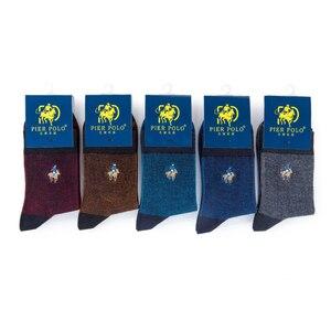 Image 4 - PIER POLO Brand Men Socks Embroidery Socks Cotton Meias High Quality Mens Dress Socks Deodorant Fashion Happy Socks
