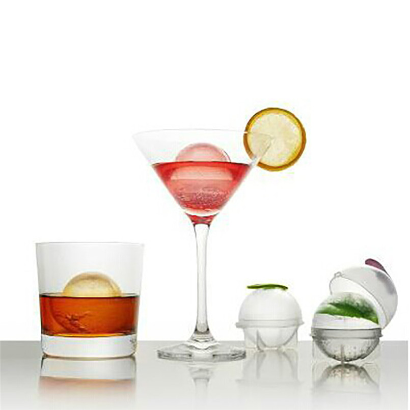 Round Ice Cube Ball Maker Sphere Molds For Whisky Party Cocktails Set of 4 Gift wholesale free shipping A20