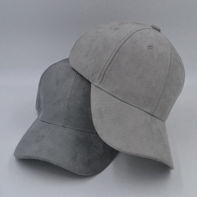 5431161e4d2f autumn faux suede curved brim baseball cap plain snapback dad hat men  women, gray blue beige pink
