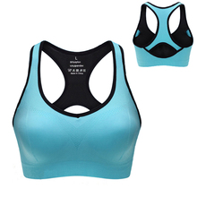 Shockproof Sports bra Woman Sportswear Fitness Running Clothes Wirefree Padded Yoga Bra Gym Tank Tops 4 colors M/L/XL