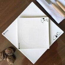 2Pcs High Quality Solid White Bone Steak Plate Dish West Dinner Set Romantic Healthy Upscale Hotel Ceramic plate