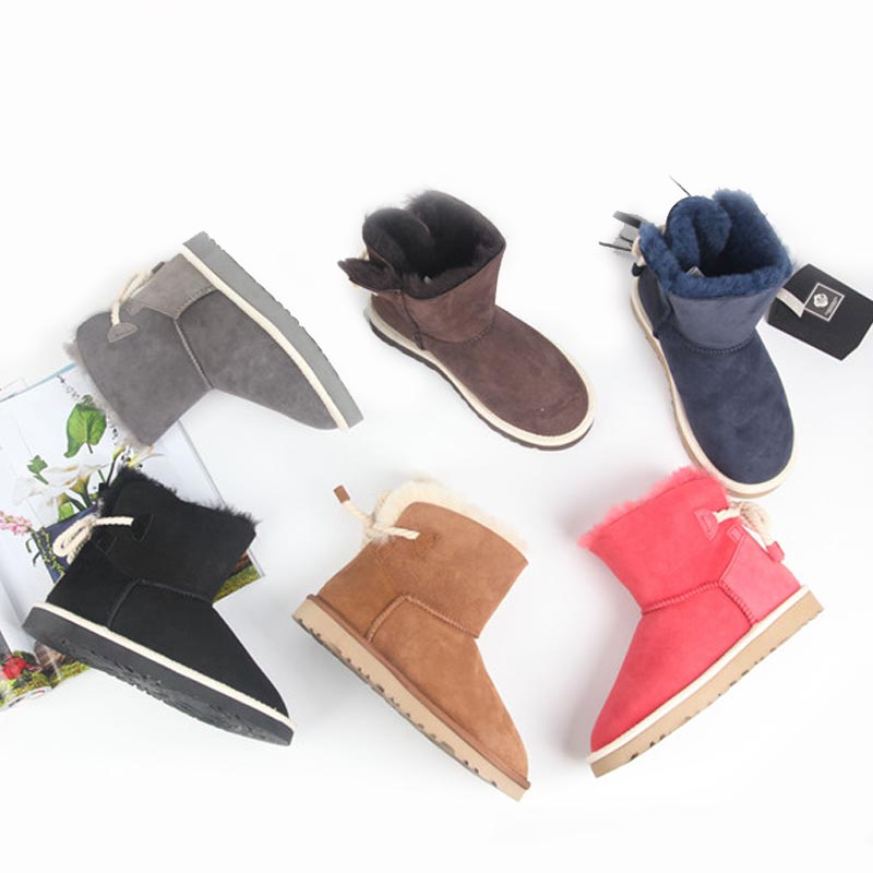 High quality autumn and winter new 100% Australian natural sheep fur snow boots boots casual fashion warm snow free delivery