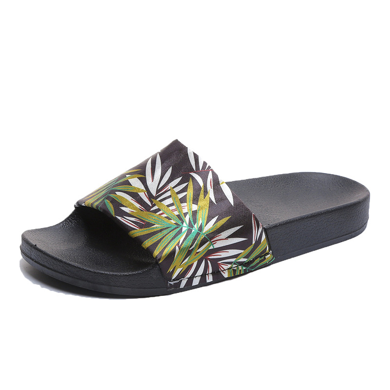 Women Slippers Beach Yellow Leaf Slippers Female Summer Flats Slippers Slides Casual Flip Flops Zapatillas Mujer Diapositives in Slippers from Shoes