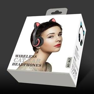 Image 5 - Cuffie Bluetooth con microfono, cuffie con luce a LED, cuffie con microfono