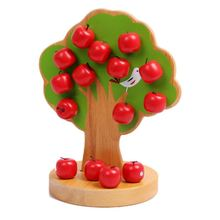 Wooden math toys learning education educational Magnetic apple tree for children boys цена 2017