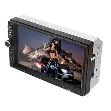 цена на Car Multimedia Player 7-inch MP5 Display FM Radio Touch Screen Bluetooth Hands-free Phone Music Video Player Auto Radio