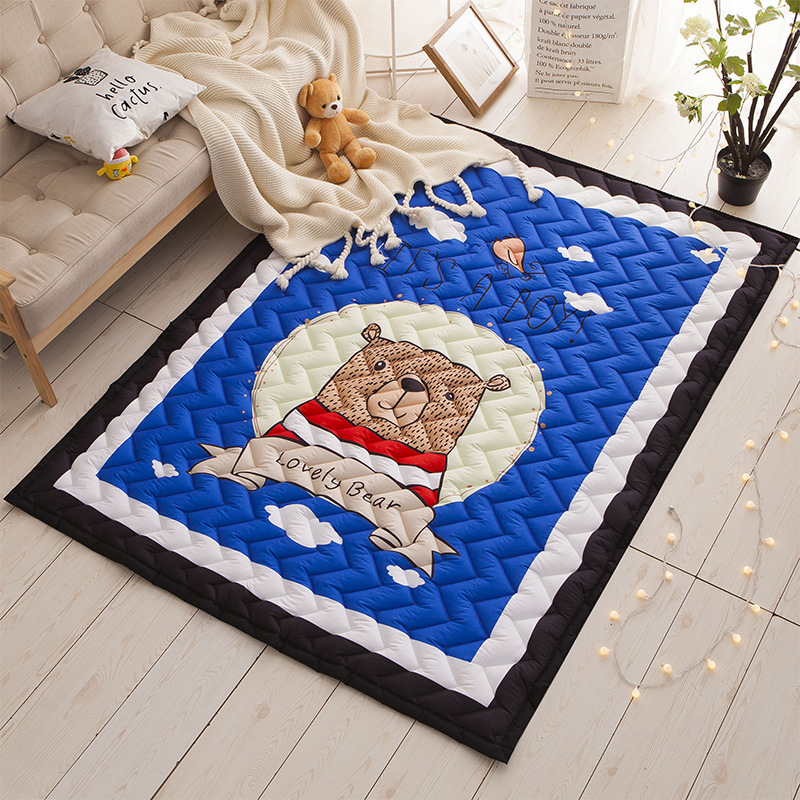 2.5cm Super Thick Bedroom Living Room Outdoor Rugs Carpet Floor Mat For Kids Baby Play Mats Baby Crawling Pad Baby Sleeping Mat