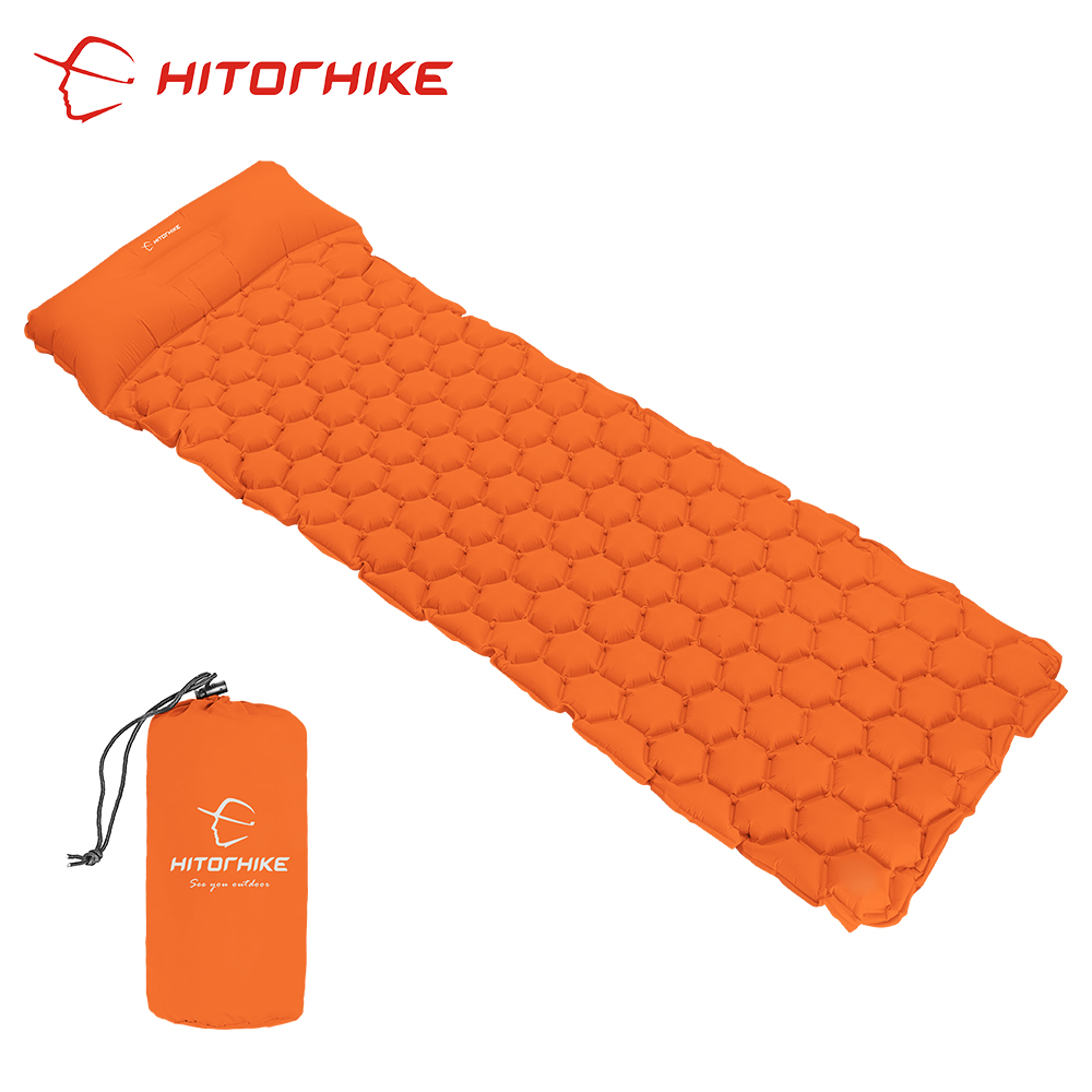 Sleeping Pad Camping Mat With Pillow air mattress picnic Inflatable Cushion Sleeping Mat Fast Filling Air Moistureproof air bed inflatable mattress beach mat automatic air mattress camping mat air bed with pillow sleeping pad 188 57