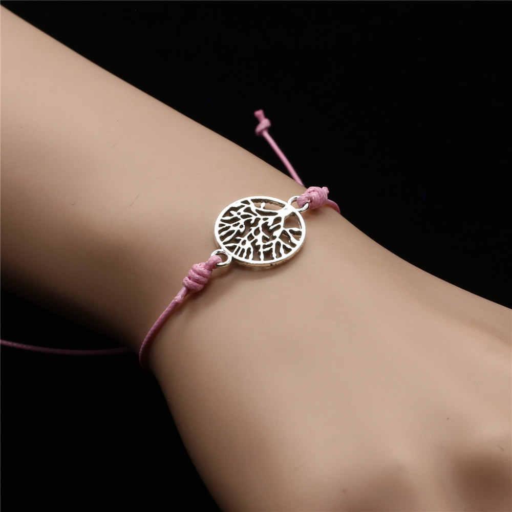 우정은 소원을 만든다 커플 팔찌 femme love string rope flower charm 여성용 발목 팔찌 쥬얼리 accesorios bijoux