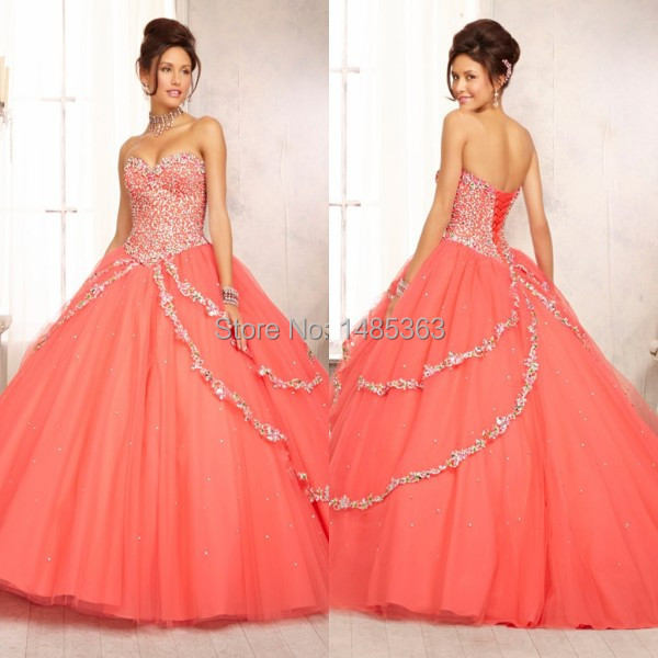 Popular Orange Quinceanera Dresses-Buy Cheap Orange Quinceanera ...