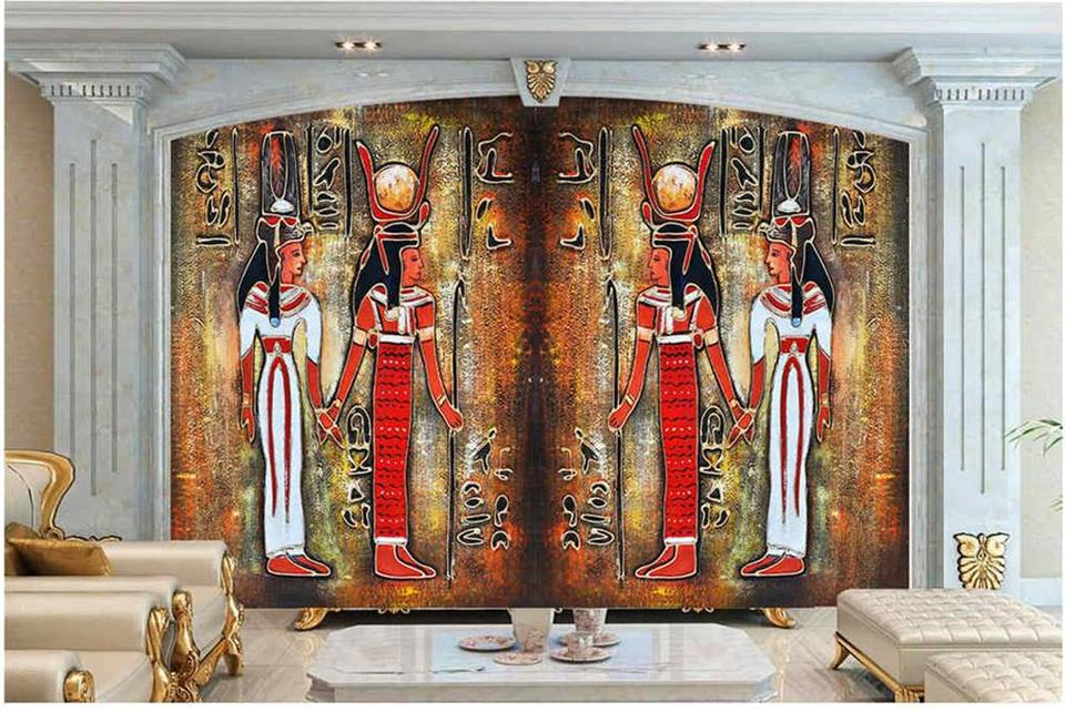 custom 3d photo wallpaper mural living room ancient Egyptian celebration 3d painting sofa TV background wall non-woven sticker custom 3d photo wallpaper mural living room cartoon panda kids room picture painting sofa tv background non woven wall sticker