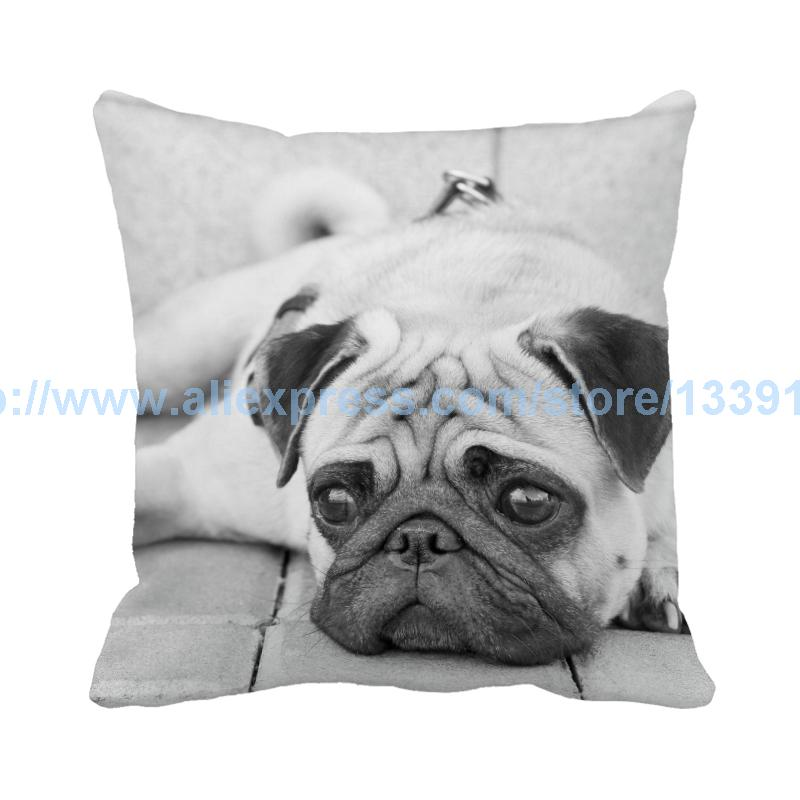 high quality sadly innocent dog printed custom suede grey pillow case almofadas cushion cover pillow cover sofa decor couch home