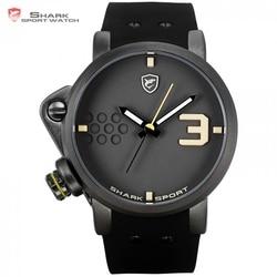 Salmon SHARK Sport Watch Yellow Men Man Top Brand Luxury Quartz-Watches Silicone Watches Waterproof Relogio Heren Hodinky /SH519