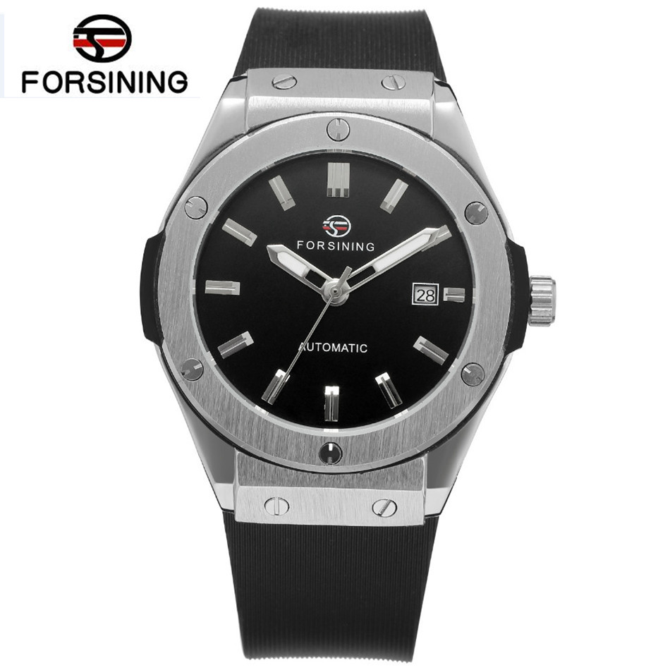 New 2017 Forsining Fashion Army Watch Men Auto Mechanical Day Watches Sport Wristwatch Free Ship fashion men s horloges mannen roman auto day quartz stopwatch sport men s watch mens wirst watches gift box free ship