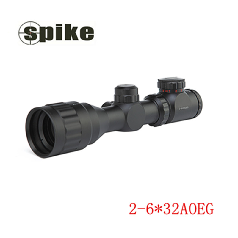 High Quality 2-6x 32mm AOEG Blue Lens Film Sight Hunt Telescope Red/Green New illuminated Rifle Gun airsoft hunting Scope  цены