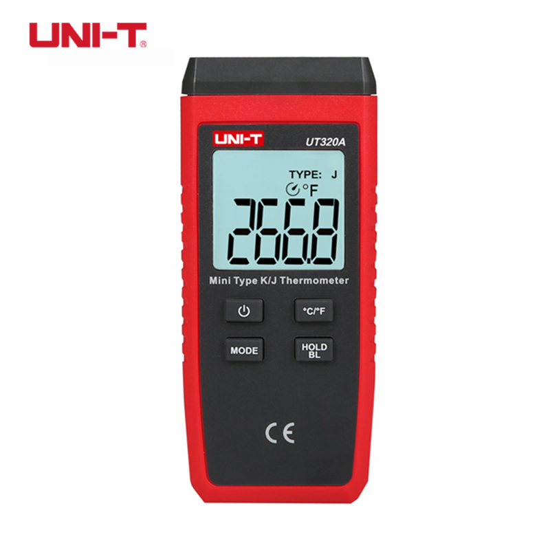 UNI T UT320A Thermometer Single channel K/J Thermocouple Temperature Meter Mini Contact Type Thermometer