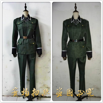 Anime Axis Powers Hetalia/APH Germany Military Uniform Cosplay Costumes Full Set Halloween Party Role Play Custom-Make Any Size