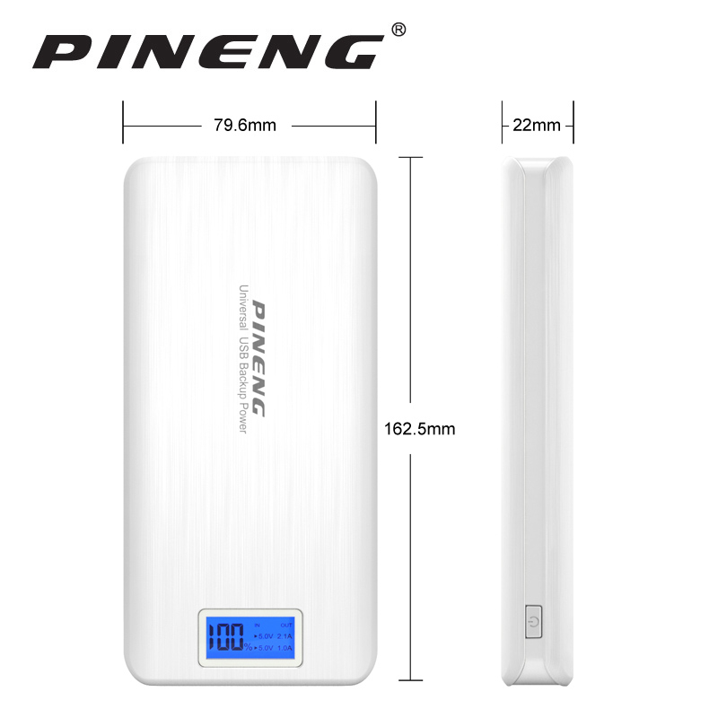 imágenes para Pineng Banco de la Energía 20000 mAh LED de Batería Externa Portátil Móvil Cargador Rápido Dual USB para el iphone 6 s 7 Plus Samsung LG HTC Xiaomi