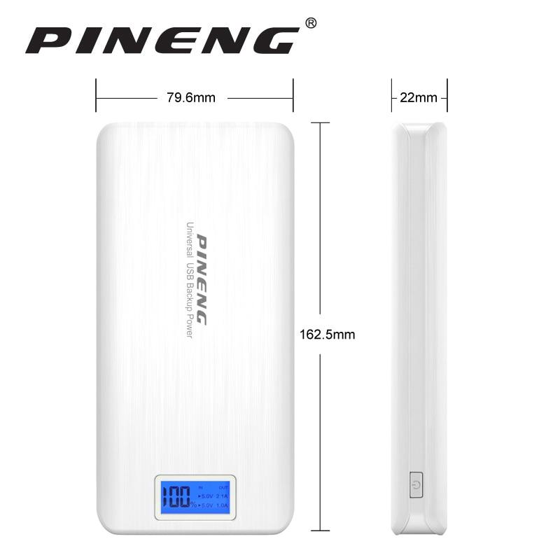 bilder für Pineng Energienbank 20000 mAh LED Externe Bewegliche Bewegliche Schnelle Ladegerät Dual USB für iPhone 6 s 7 Plus Samsung LG HTC Xiaomi