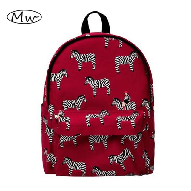 Korean Funny Animal Mermaid Printing Backpack Canvas Women Backpack Casual Travel Bag Students Schoolbag Rucksack Mochilas