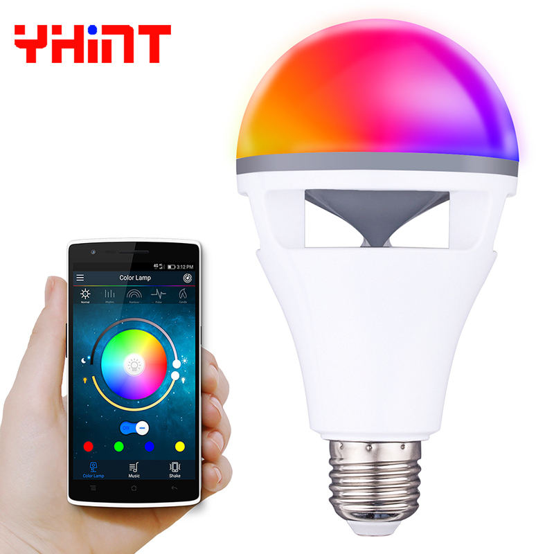 E27 app contrôle led smart bluetooth portable haut-parleur musique jouer dimmable intelligent led ampoule lampe préfet pour Halloween party