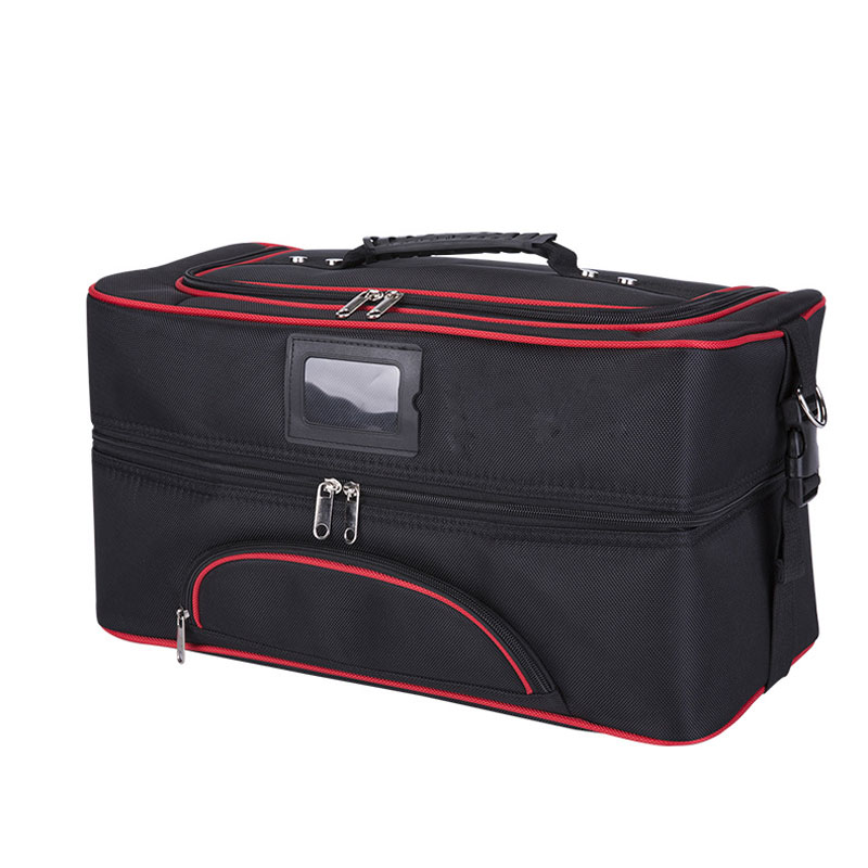 Women Large Capacity Professional Makeup Organizer Cosmetic Box Portable Canvas Storage Bag Travel Handbag Bolso Mujer Suitcase kundui suitcase women men travel bag thickening aluminum alloy laptop large toolbox lockable storage display box briefcase