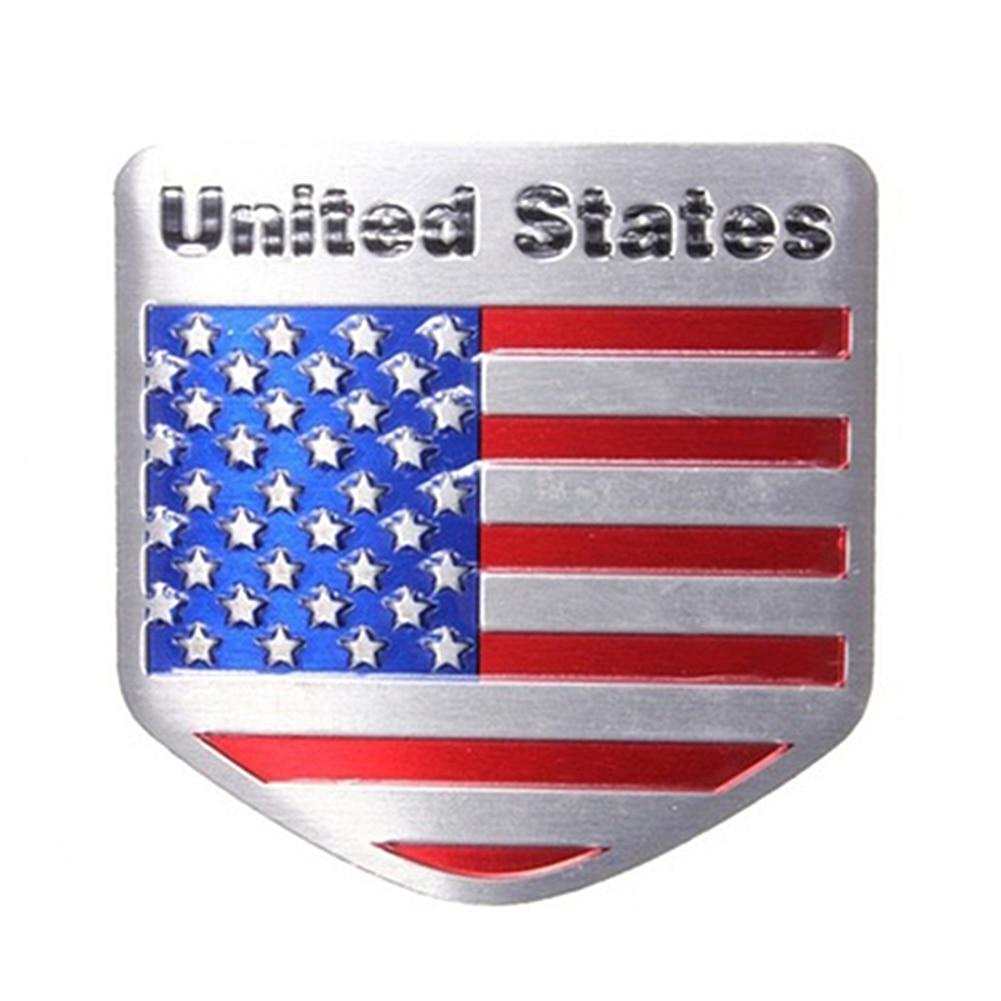 1x USA Flag Metal Emblem Badge Sticker American Flag