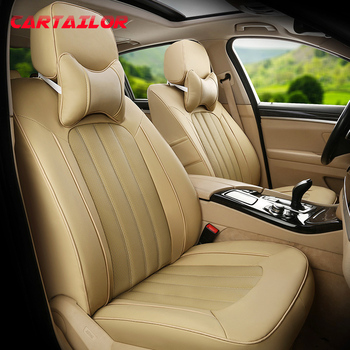 CARTAILOR Black Cowhide Custom Fit Seat Covers & Supports for Toyota Verso Car Seat Cover Set Artificial Leather Seats Cushions