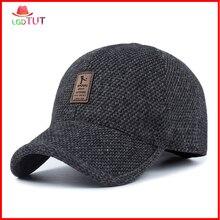 2019 Winter Mens Hat Man Baseball Cap Woolen Warm Earmuffs Caps Dad Truck Driver Hats