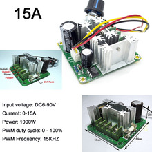 цена на 1Pc DC Motor Wide Voltage PWM High Speed 6V-90V Rated 10A Max 15A 1000W Frequency:15Khz LED Dimmer for DIY Panel LED Strip Light