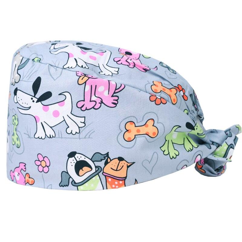 Unisex Mens Tie Back Scrub Cap Surgical Cap Blue Pink Flamingo