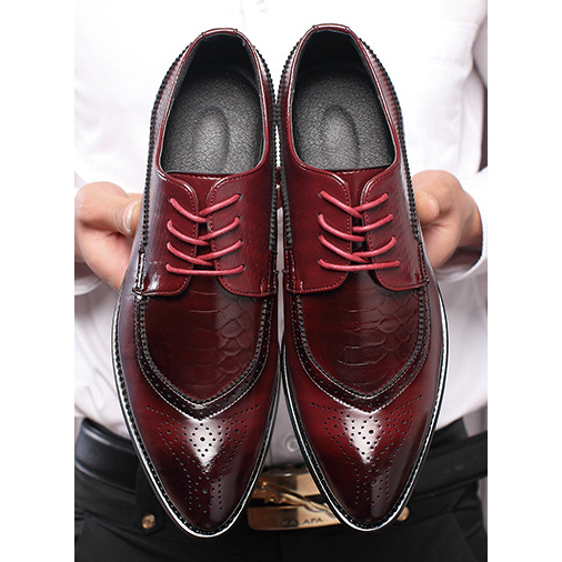 M-anxiu Men Fashion Business Shoes Casual Shoes Pointed Toe Shoes Wedding Flat Dress Party Lace up Shoes Plus Size цена 2017