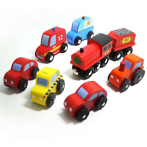 x 8car free shipping wholesales mini wooden color car toys model car diecast toy best gift for kids 8pcslot
