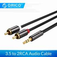 ORICO HIFI 3.5mm to Dual RCA Audio Cables Gold-plated TPE Coating Speaker Cable For TV Amplifier Computer MP3/4 1m 1.5m 2.m