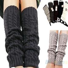 New Women's Lady Female Fashion Winter Knit Stripe Crochet Leg Warm Legging  015E
