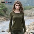 Spring Summer New Fashion Long Sleeve Women Shirts Green Solid Color Women Stitching T-Shirt O-Neck Long Sleeve Tshirt Women