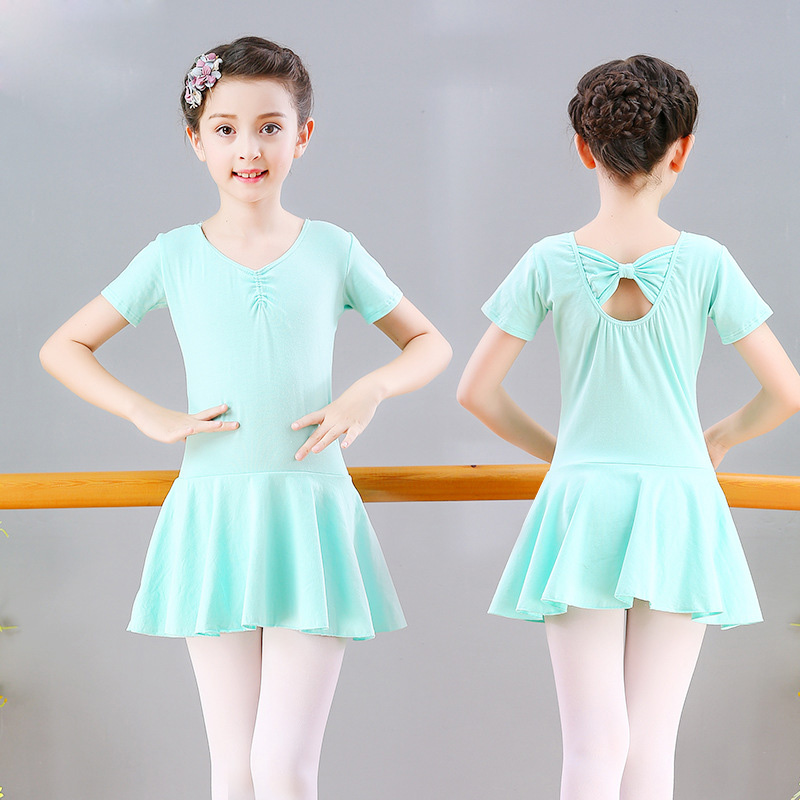 Girls Ballet Dress Gymnastics Leotard Costumes Skirted Ballet Clothing Tutu Dance Wear With Chiffon Skirts Ballerina Clothes