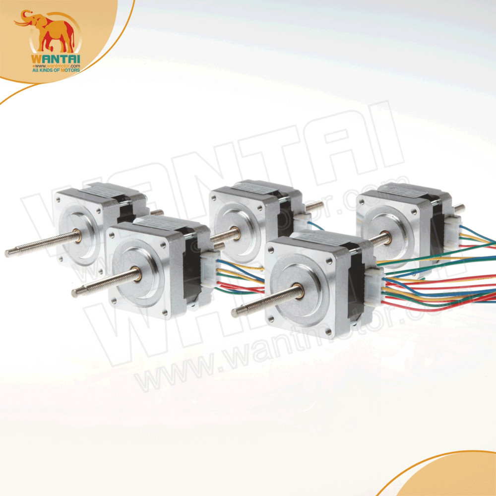 (HIgh Quality )5PCS wantai Nema 16 Stepper Linear Motor of 100mm Stoke Length 39BYGL215A,12VDC,0.4A