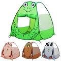 Children Foldable Cartoon Picnic Tent Frog Monkey Owl Panda Outdoor Playhouse Animal Shapes Marine Ball Indoor Teepee Game House