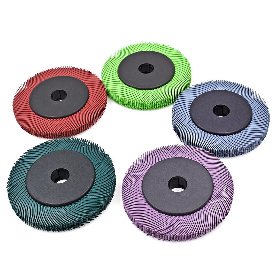 10pcs 6 3M Radial Bristle Brushes Wheel Discs Abrasive Tools Grinding Wheels with 1 Plastic Hub for Polish Motor Bench Grinder
