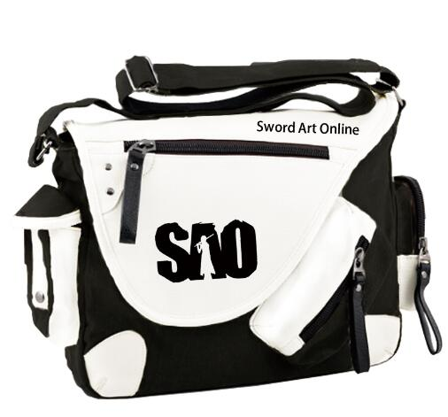 Sword Art Online One Piece Handbag Bag Kirigaya Kazuto SAO Anime Student Shoulder Bag Travel Laptop Bag Satchel new fashion sword art online cosplay bag sao kirigaya kazuto anime shoulder bag pu waterproof travel messenger bags