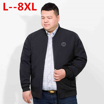 Plus size 10XL 8XL 6XL 5XL brand clothing 2018 NEW Spring Winter Windbreaker Men Coat bomber jacket cotton coats men Big large