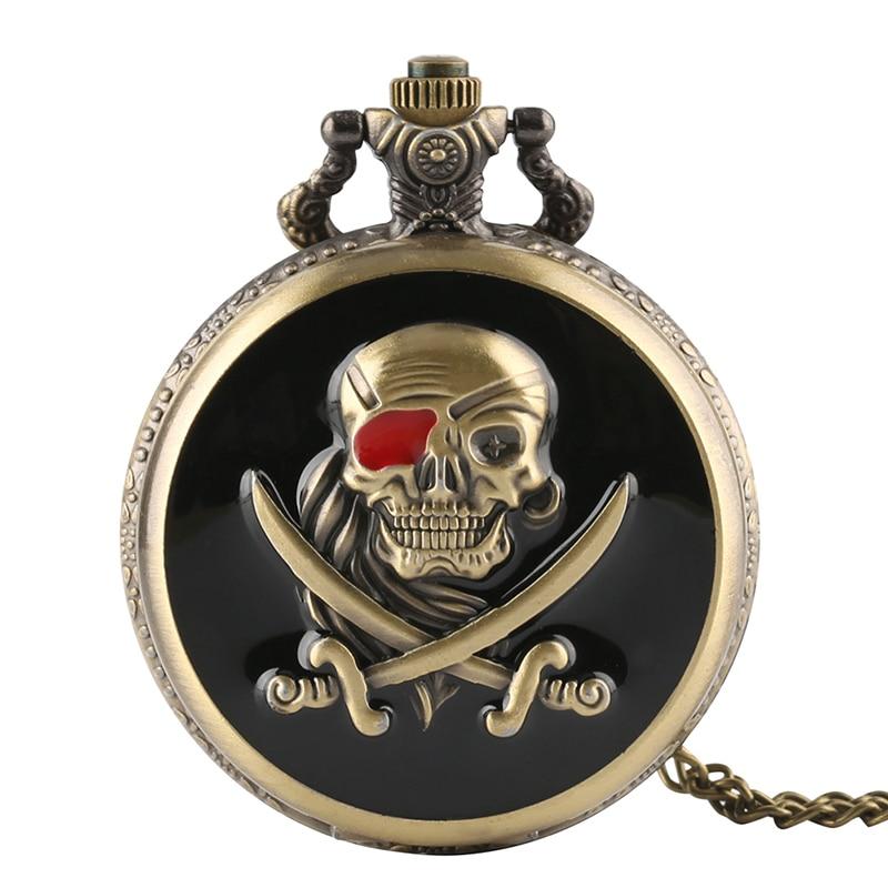 Fashion Death Note Men Women Quartz Pocket Watch Cool Evil Skull Gray Tone Steampunk Necklace Pendant Clock Gift For Unique Gift