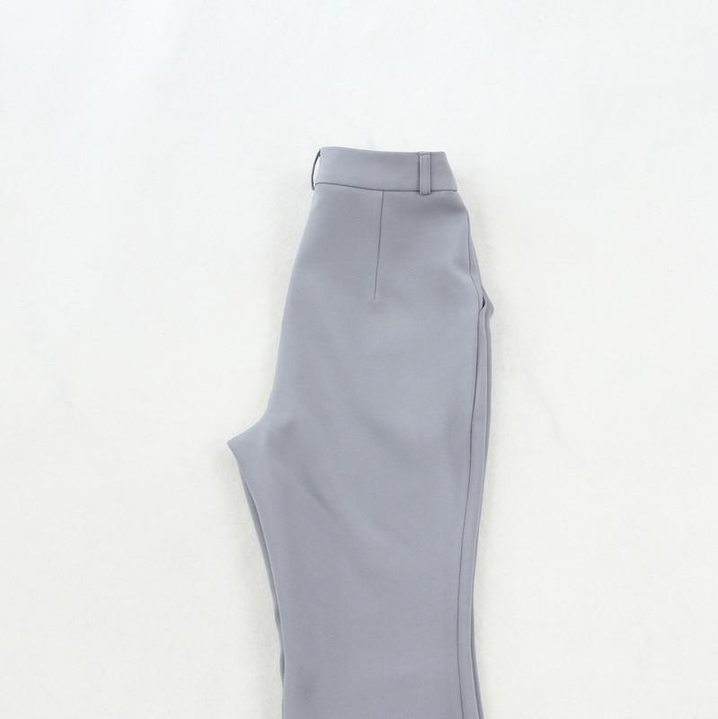 De Couleur La Tempérament Ensembles Taille Tenue Nouveau Ensemble Unie Plus Femmes 2019 Version Costume Coréenne Mince Tweed Deux 1 Pièces F5w6TBq