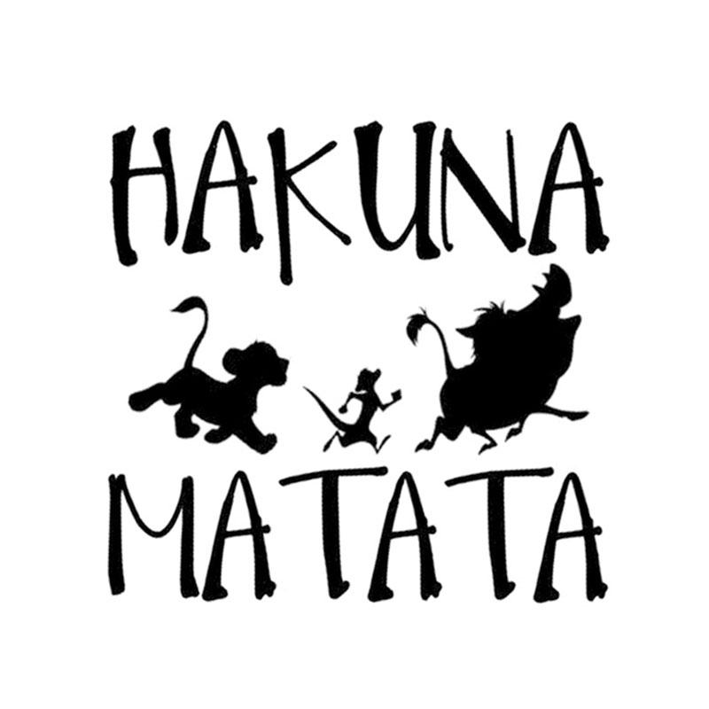 Hakuna Matata Funny Car Sticker Cartoon Animal Waterproof Vinyl Stickers For Cars Styling Lion King Decals Automotive Products